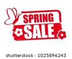 spring sale word red stamp text ... | Shutterstock .eps vector #1025896243