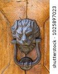 detail of the vintage door... | Shutterstock . vector #1025897023