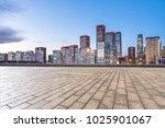 empty marble floor with modern... | Shutterstock . vector #1025901067