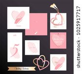 wedding collection. invitation... | Shutterstock .eps vector #1025917717