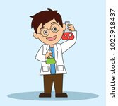 scientist man doing research... | Shutterstock .eps vector #1025918437