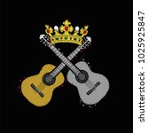 two acoustic guitars and a...   Shutterstock .eps vector #1025925847