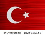 vector concept of turkish flag. ... | Shutterstock .eps vector #1025926153