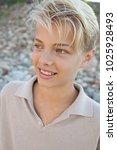 portrait of beautiful teenager... | Shutterstock . vector #1025928493