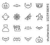 flat vector icon set   pumpkin... | Shutterstock .eps vector #1025938093