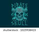 vector illustration. pirate... | Shutterstock .eps vector #1025938423