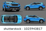 set compact city crossover blue ... | Shutterstock . vector #1025943817