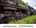 old rusty steam locomotive in... | Shutterstock . vector #1025944603