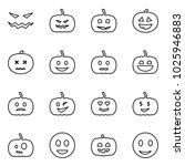 flat vector icon set   scary... | Shutterstock .eps vector #1025946883