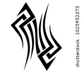 tattoo tribal vector design.... | Shutterstock .eps vector #1025952373