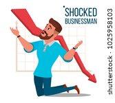 sad shocked businessman vector. ... | Shutterstock .eps vector #1025958103