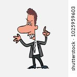 clerk argues angry.             ... | Shutterstock .eps vector #1025959603