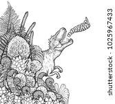 graphic tyrannosaurus rex... | Shutterstock .eps vector #1025967433