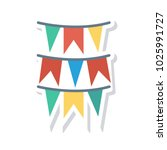 bunting decoration birthday | Shutterstock .eps vector #1025991727