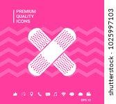 cross adhesive bandage  medical ... | Shutterstock .eps vector #1025997103