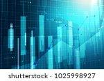 stock market chart. business... | Shutterstock . vector #1025998927