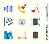 icons about lifestyle with... | Shutterstock .eps vector #1026000973
