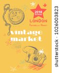 vintage market   vector design... | Shutterstock .eps vector #1026003823