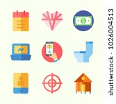 icons about lifestyle with wc ... | Shutterstock .eps vector #1026004513