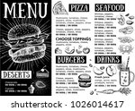 restaurant cafe menu  template... | Shutterstock .eps vector #1026014617