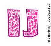 english pink letter i  j on a... | Shutterstock .eps vector #1026016603
