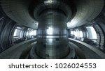 fusion reactor tokamak.... | Shutterstock . vector #1026024553