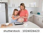 attractive blond 30s woman... | Shutterstock . vector #1026026623