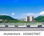 bridge over the gorge of the... | Shutterstock . vector #1026027007