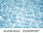 texture of water in swimming... | Shutterstock . vector #1026044287