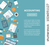 accounting concept. tax... | Shutterstock .eps vector #1026051127