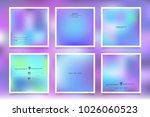 hologram bright colorful... | Shutterstock .eps vector #1026060523