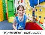 teen girl in protection harness ... | Shutterstock . vector #1026066313