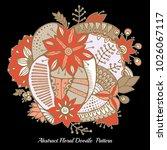 stock vector abstract hand draw ... | Shutterstock .eps vector #1026067117