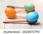 funny easter egg colorful... | Shutterstock . vector #1026072793