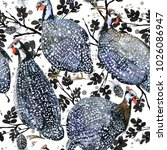 seamless pattern with guinea... | Shutterstock . vector #1026086947