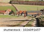 an english rural landscape in... | Shutterstock . vector #1026091657