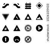 solid vector icon set  ... | Shutterstock .eps vector #1026105433