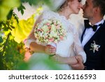 wedding shot of bride and groom ... | Shutterstock . vector #1026116593