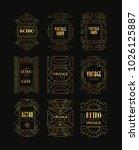 decorative golden frames in...   Shutterstock .eps vector #1026125887