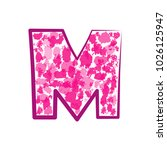 english pink letter m on a... | Shutterstock .eps vector #1026125947