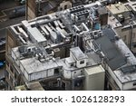exhaust vents of industrial air ... | Shutterstock . vector #1026128293