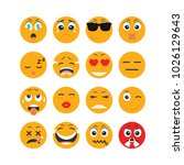 set of emoticon character | Shutterstock .eps vector #1026129643