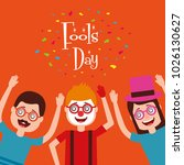people celebration fools day  | Shutterstock .eps vector #1026130627