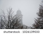 old church in fog. mystic... | Shutterstock . vector #1026139033