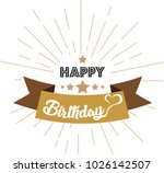 vintage happy birthday | Shutterstock .eps vector #1026142507