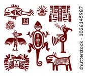 maya or indian traditional... | Shutterstock . vector #1026145987