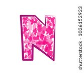 english pink letter n on a... | Shutterstock .eps vector #1026152923