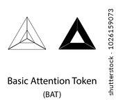 black bat cryptocurrency symbol ... | Shutterstock .eps vector #1026159073