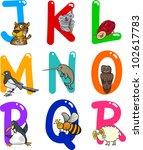 cartoon colorful alphabet set... | Shutterstock . vector #102617783