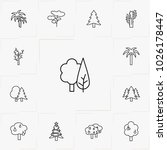 trees line icon set | Shutterstock .eps vector #1026178447